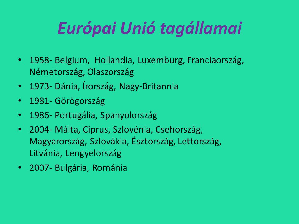 Európai Unió tagállamai