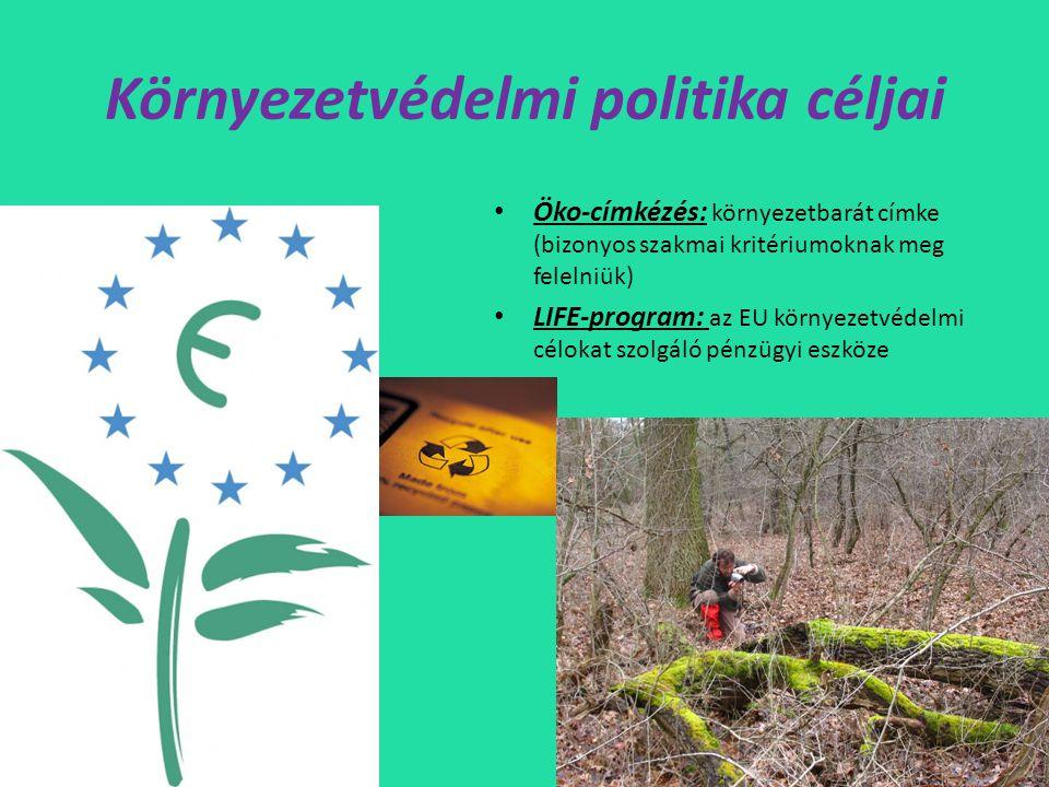 Környezetvédelmi politika céljai