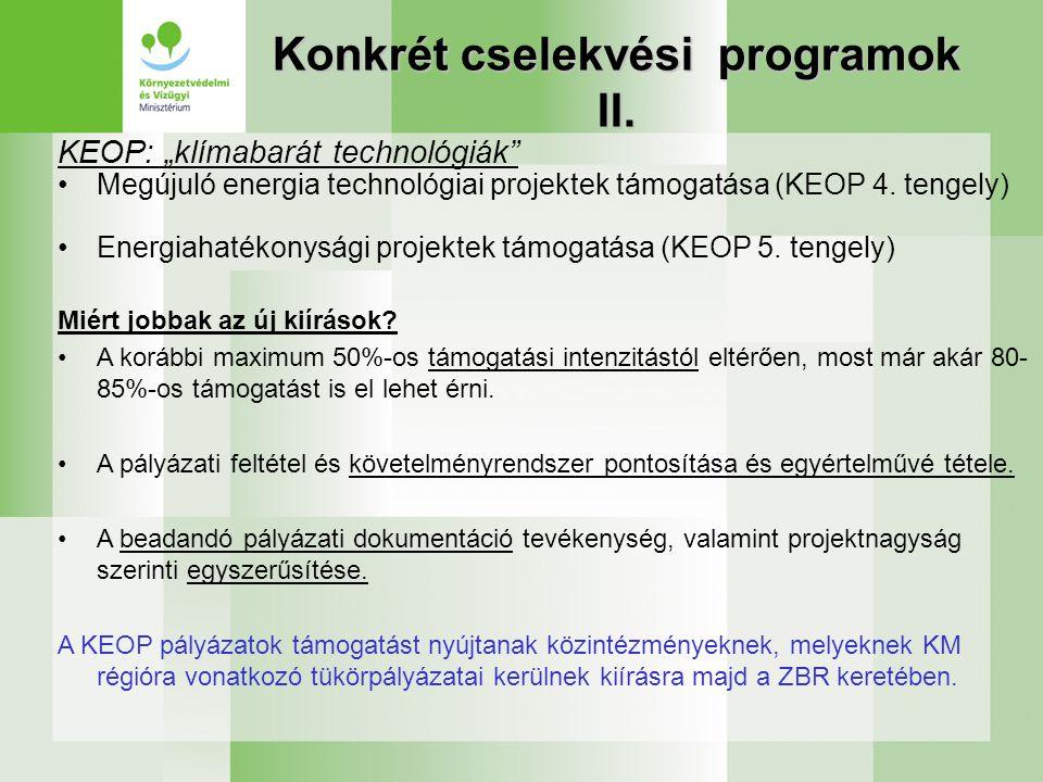 Konkrét cselekvési programok II.