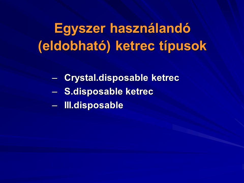Egyszer használandó (eldobható) ketrec típusok