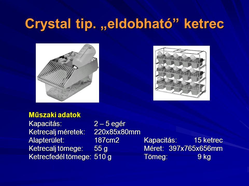 """Crystal tip. """"eldobható ketrec"""