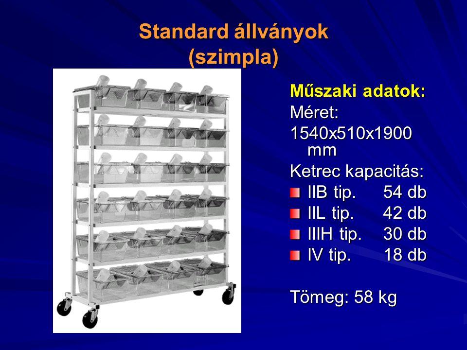 Standard állványok (szimpla)