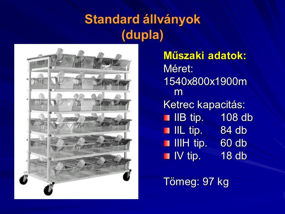 Standard állványok (dupla)