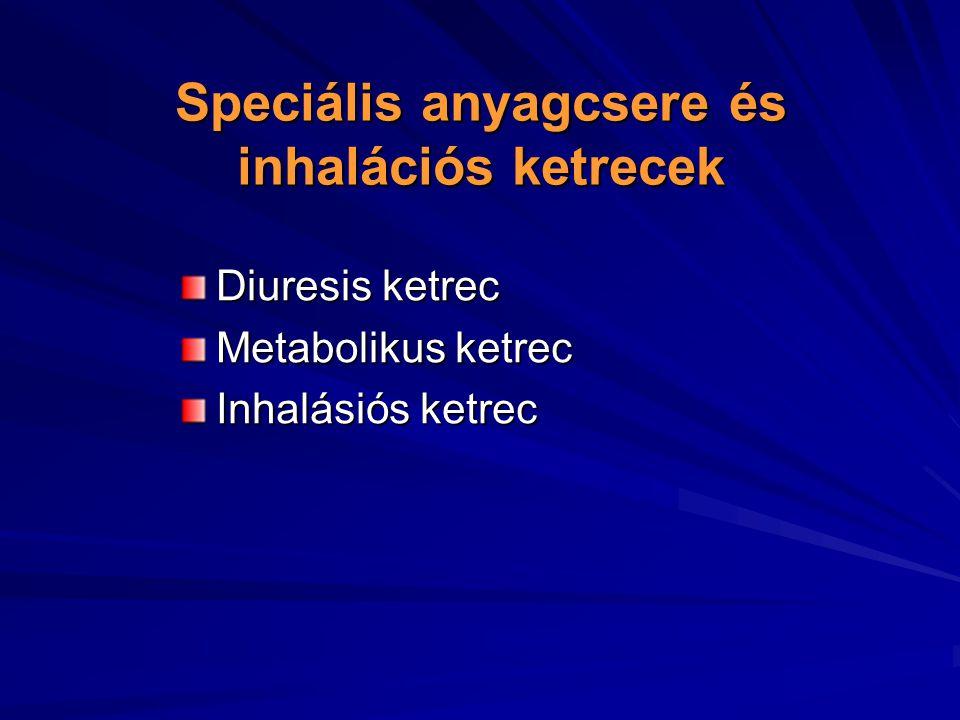 Speciális anyagcsere és inhalációs ketrecek