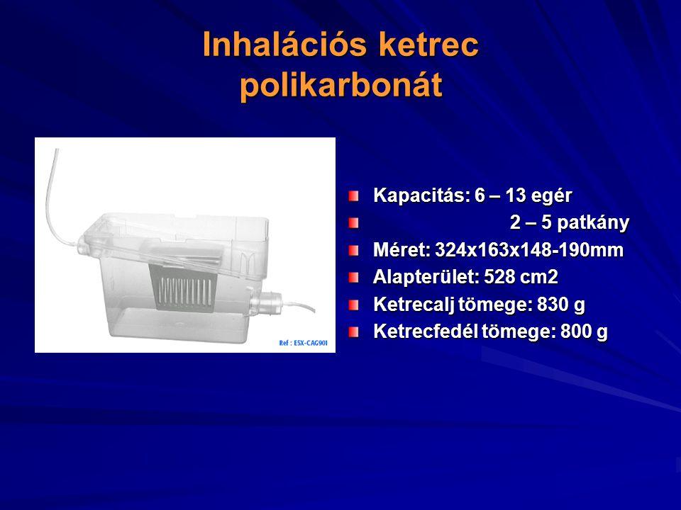 Inhalációs ketrec polikarbonát