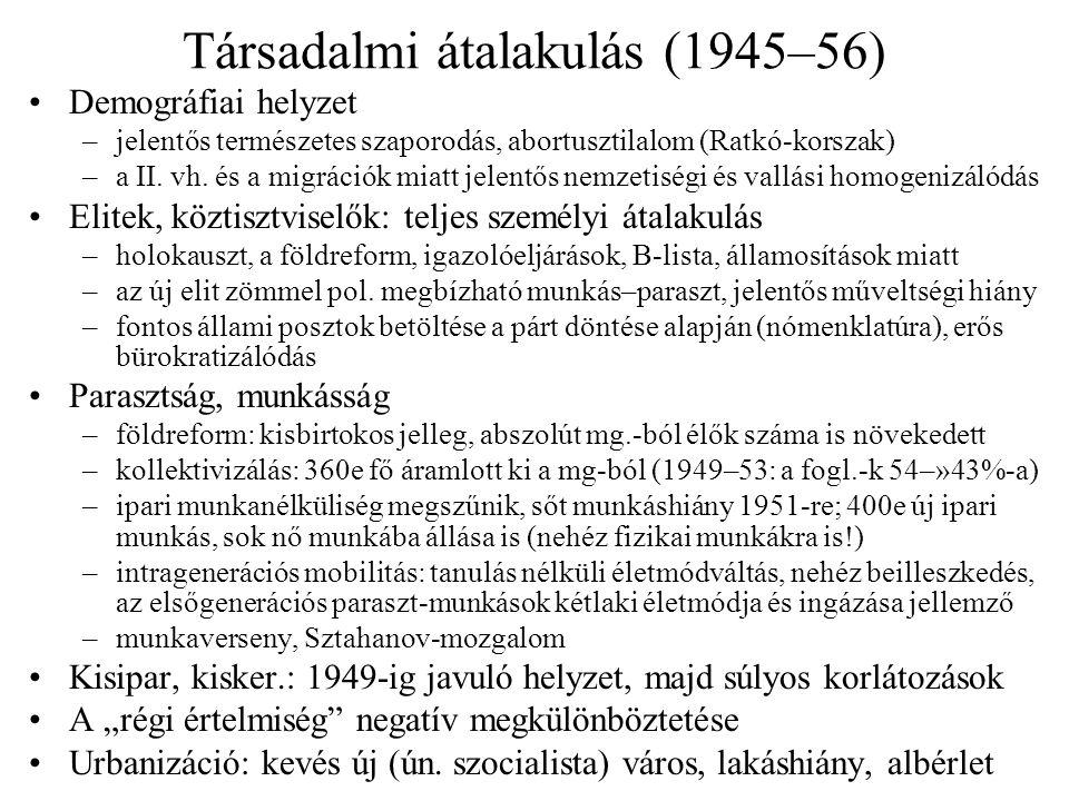 Társadalmi átalakulás (1945–56)