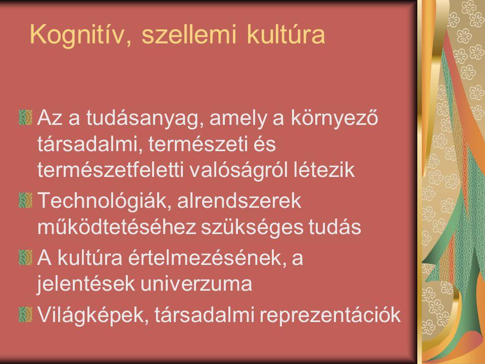 Kognitív, szellemi kultúra