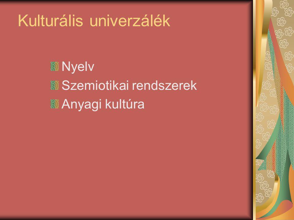 Kulturális univerzálék