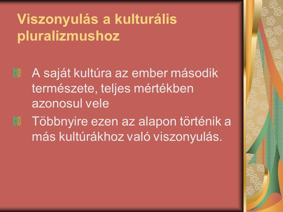 Viszonyulás a kulturális pluralizmushoz