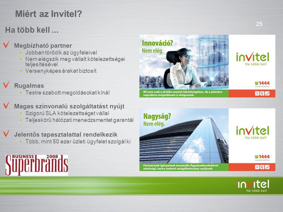 Miért az Invitel Ha több kell ... Megbízható partner Rugalmas