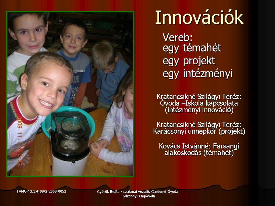Innovációk Vereb: egy témahét egy projekt egy intézményi