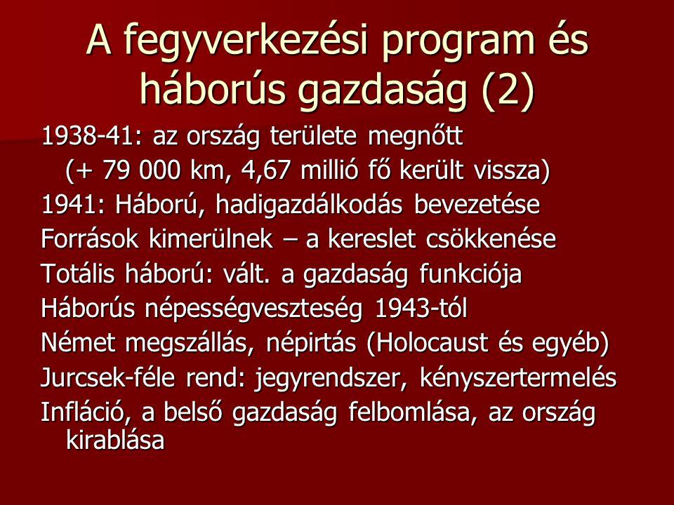 A fegyverkezési program és háborús gazdaság (2)