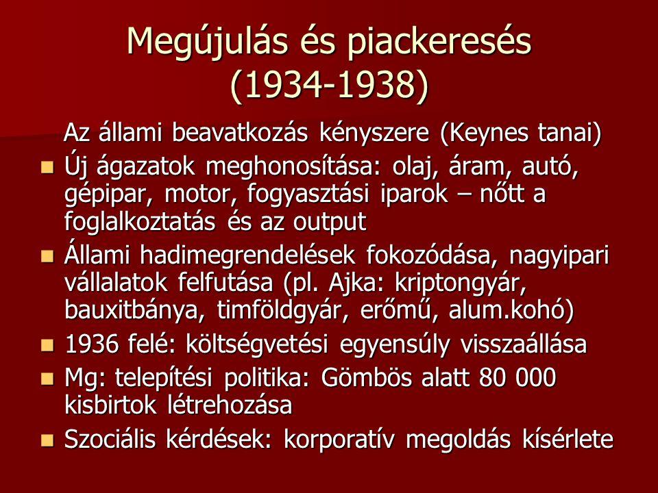 Megújulás és piackeresés (1934-1938)