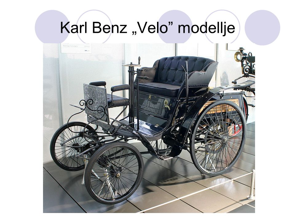 """Karl Benz """"Velo modellje"""