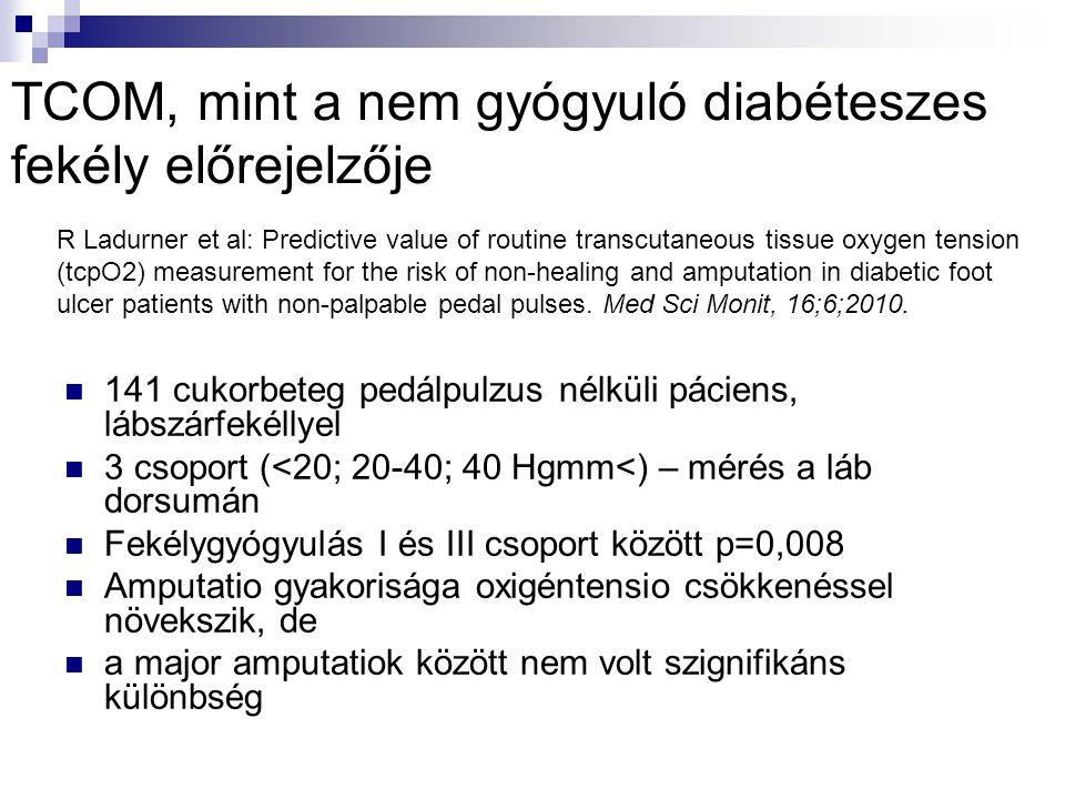 TCOM, mint a nem gyógyuló diabéteszes fekély előrejelzője