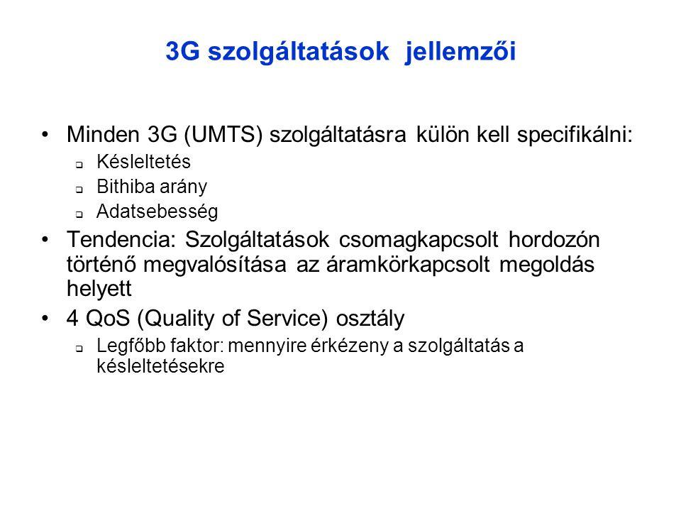 3G szolgáltatások jellemzői