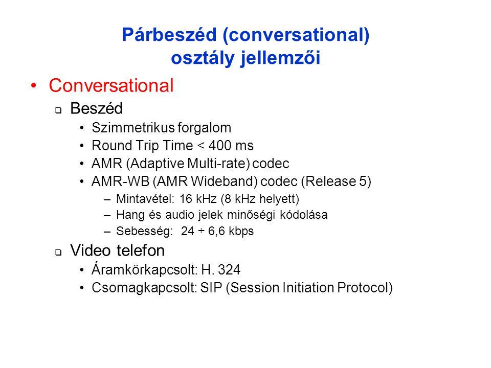 Párbeszéd (conversational) osztály jellemzői