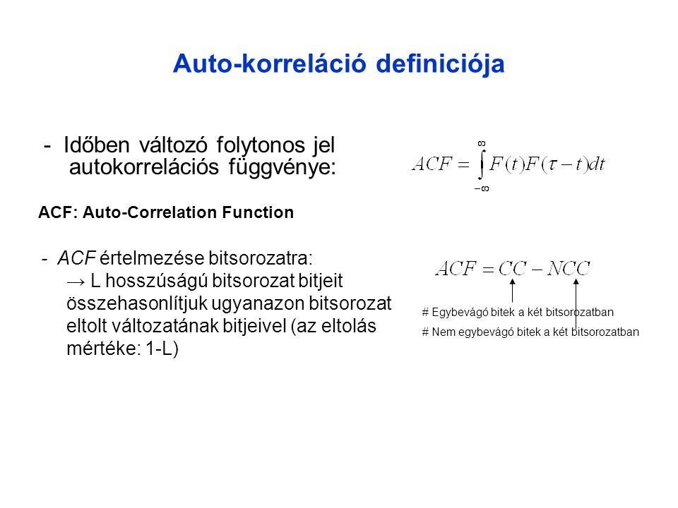 Auto-korreláció definiciója