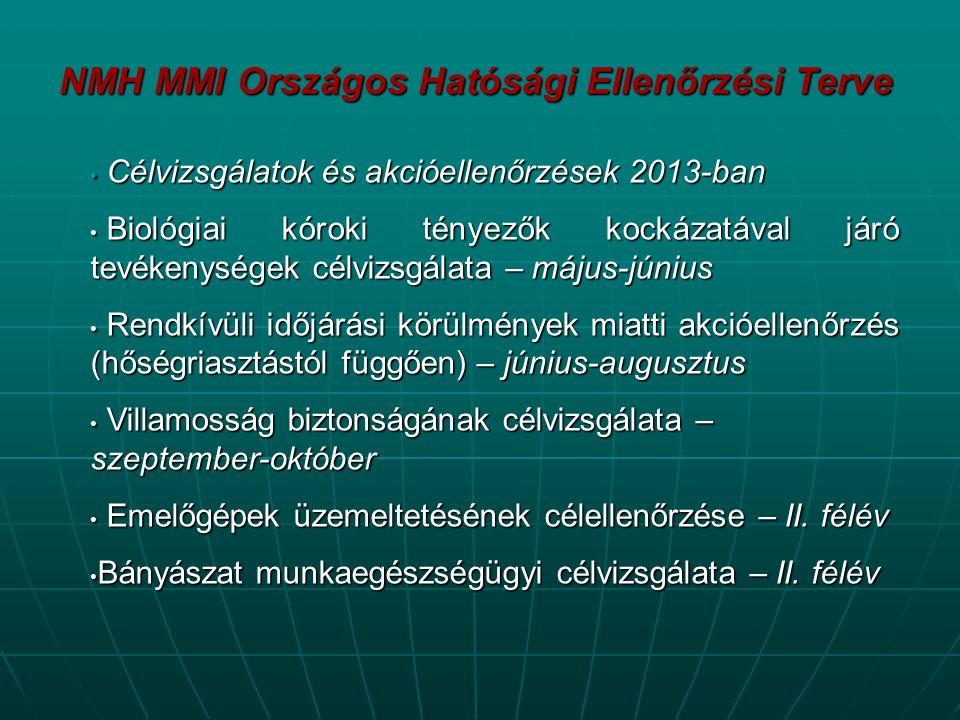 NMH MMI Országos Hatósági Ellenőrzési Terve
