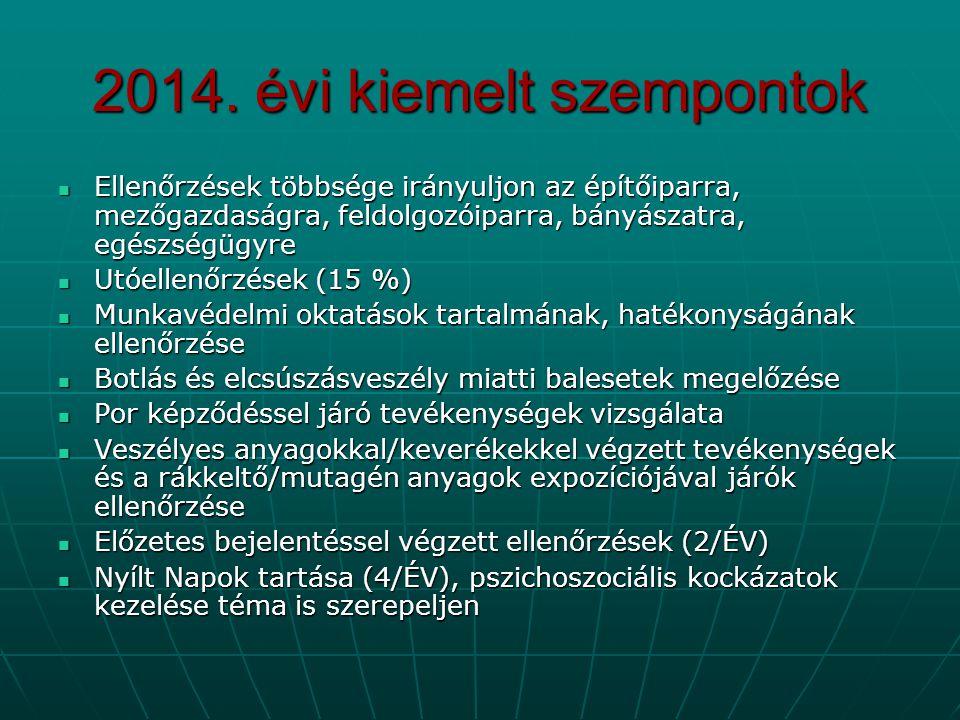 2014. évi kiemelt szempontok