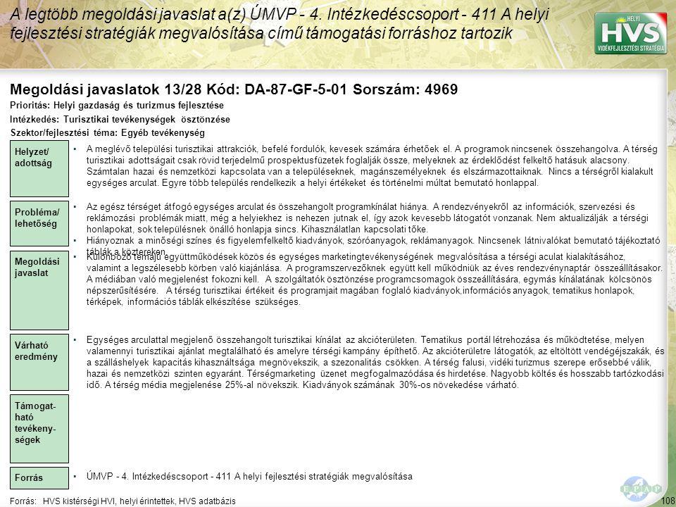 Megoldási javaslatok 13/28 Kód: DA-87-GF-5-01 Sorszám: 4969