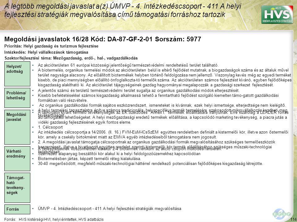 Megoldási javaslatok 16/28 Kód: DA-87-GF-2-01 Sorszám: 5977