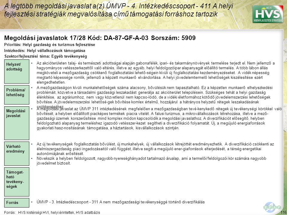 Megoldási javaslatok 17/28 Kód: DA-87-GF-A-03 Sorszám: 5909