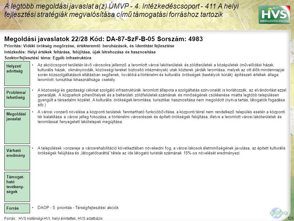 Megoldási javaslatok 22/28 Kód: DA-87-SzF-B-05 Sorszám: 4983