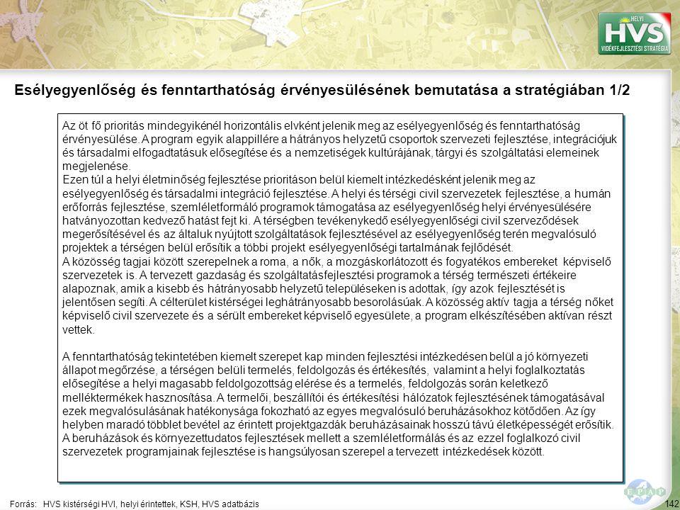 Esélyegyenlőség és fenntarthatóság érvényesülésének bemutatása a stratégiában 2/2