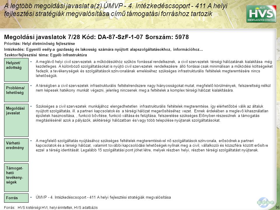 Megoldási javaslatok 7/28 Kód: DA-87-SzF-1-07 Sorszám: 5978