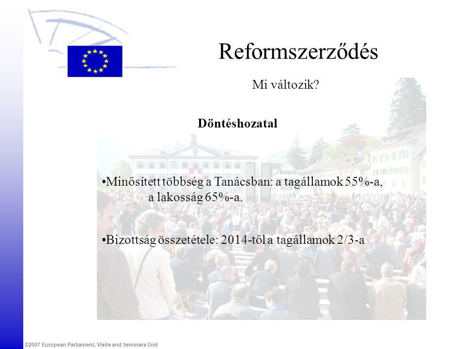 Reformszerződés Mi változik Döntéshozatal