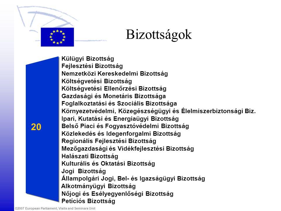 Bizottságok 20 Külügyi Bizottság Fejlesztési Bizottság