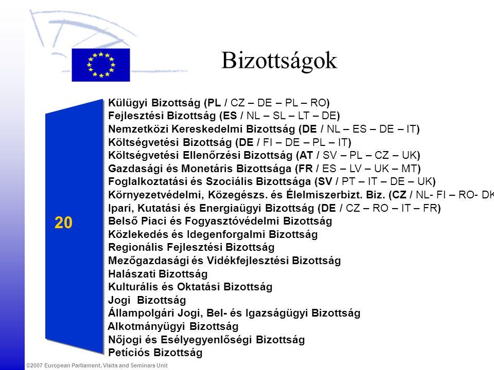Bizottságok 20 Külügyi Bizottság (PL / CZ – DE – PL – RO)