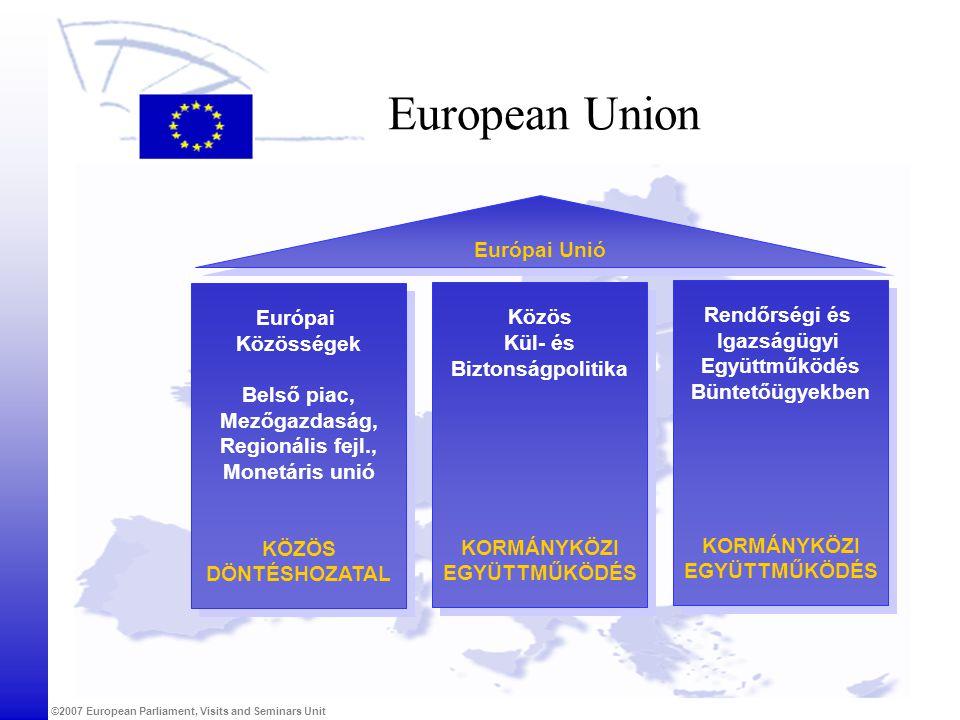 European Union Európai Unió Európai Közös Rendőrségi és Igazságügyi
