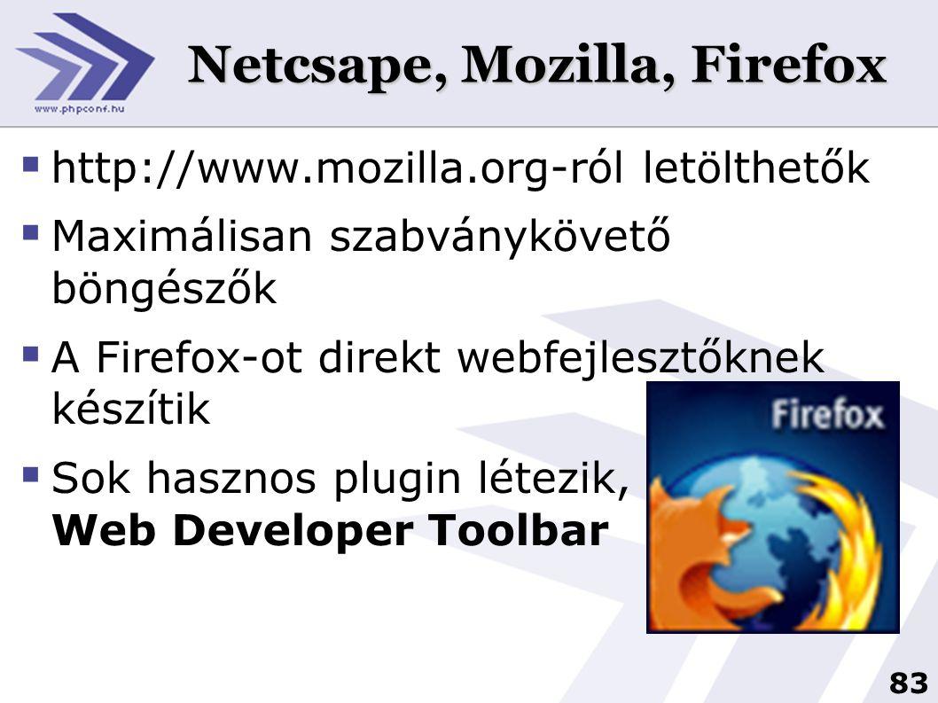 Netcsape, Mozilla, Firefox