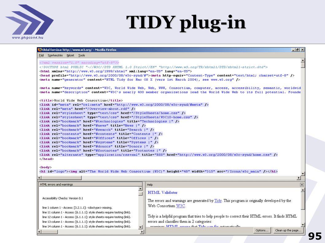 TIDY plug-in