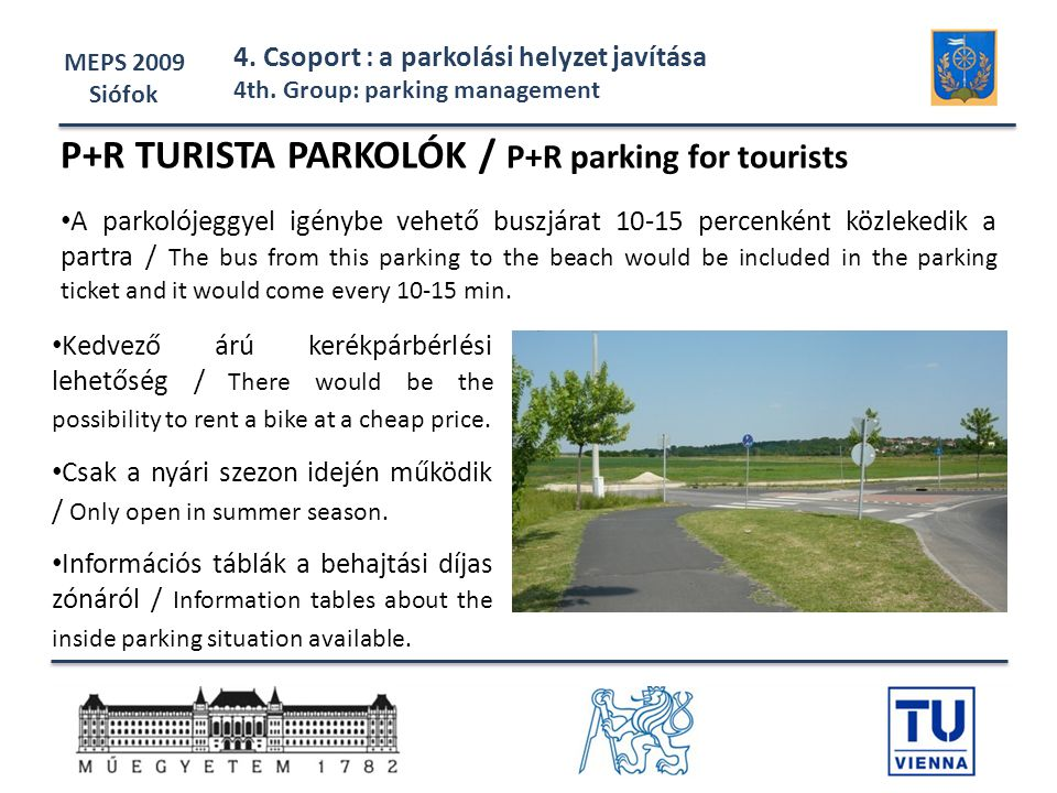 P+R TURISTA PARKOLÓK / P+R parking for tourists