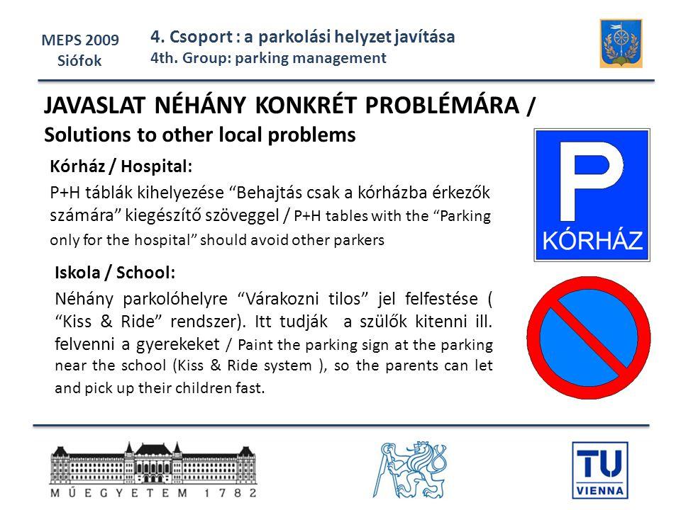 JAVASLAT NÉHÁNY KONKRÉT PROBLÉMÁRA /