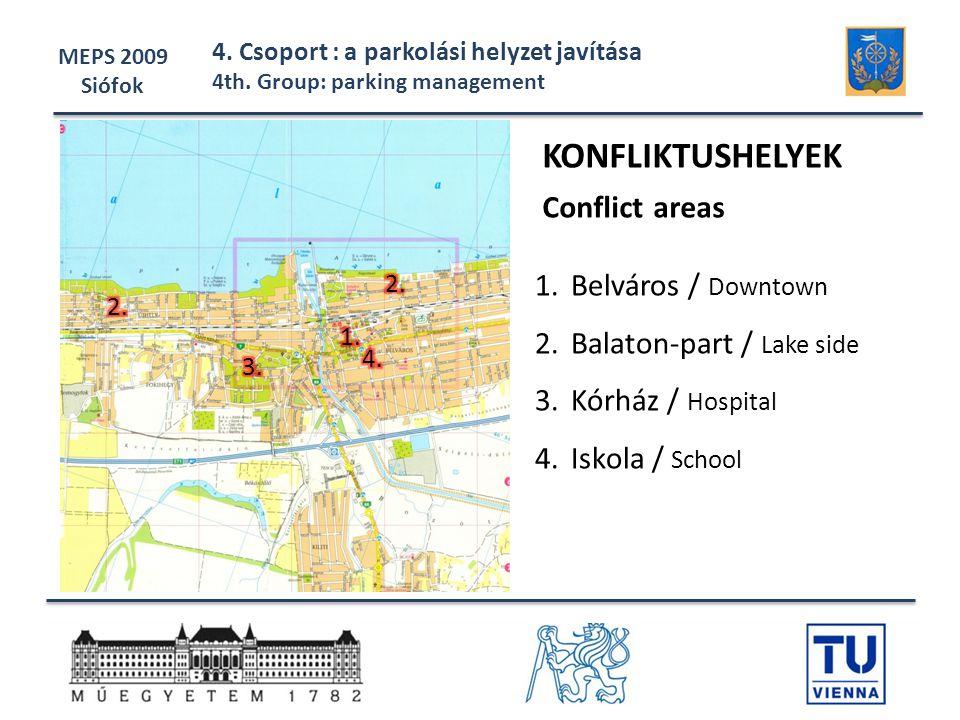 KONFLIKTUSHELYEK Conflict areas Belváros / Downtown