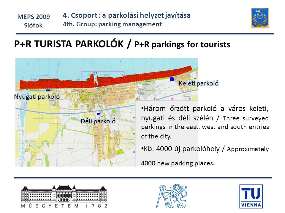 P+R TURISTA PARKOLÓK / P+R parkings for tourists
