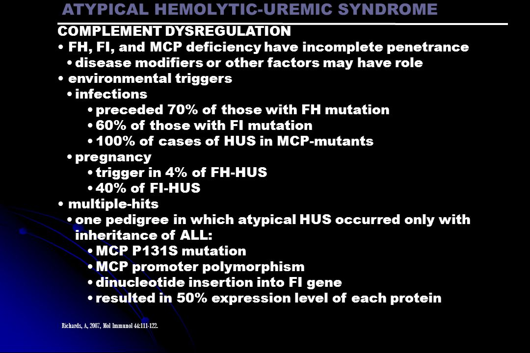 ATYPICAL HEMOLYTIC-UREMIC SYNDROME
