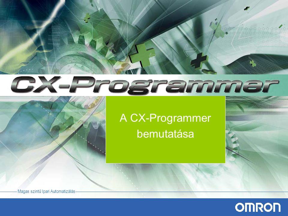 A CX-Programmer bemutatása