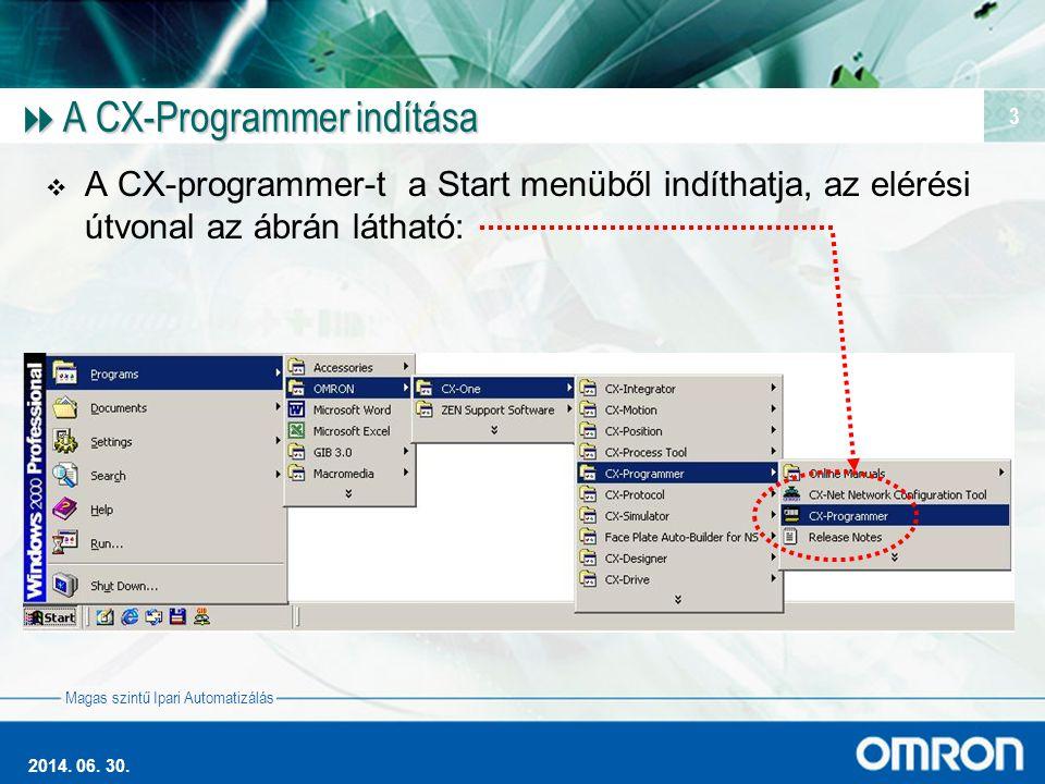 A CX-Programmer indítása