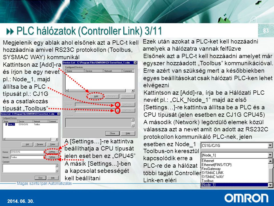 PLC hálózatok (Controller Link) 3/11