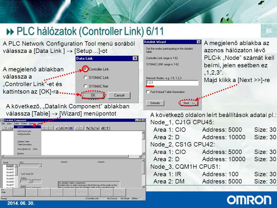 PLC hálózatok (Controller Link) 6/11