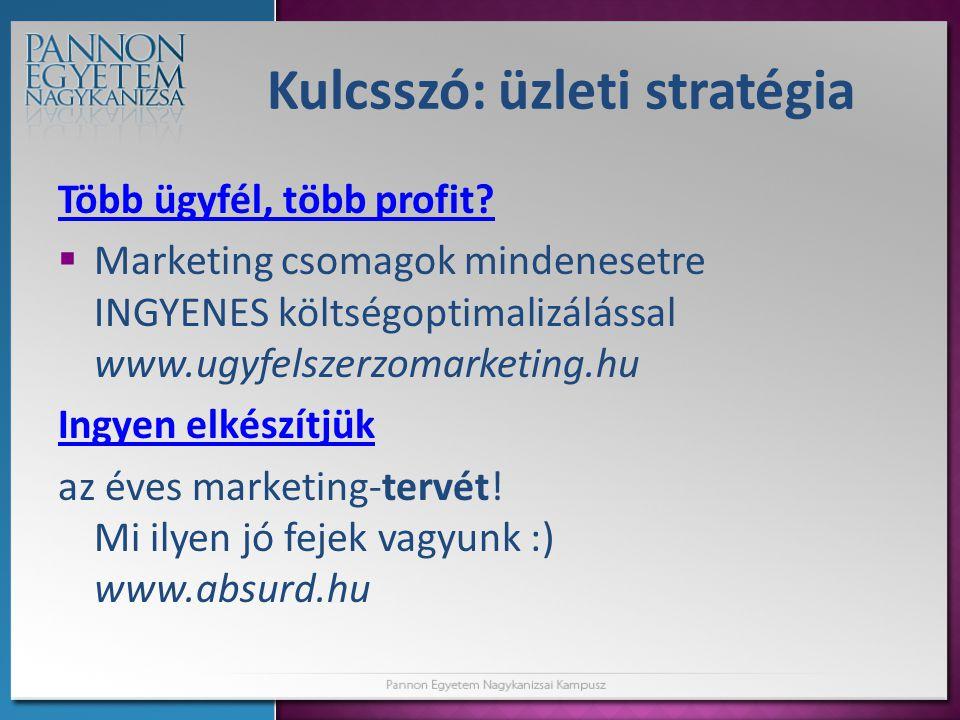 Kulcsszó: üzleti stratégia