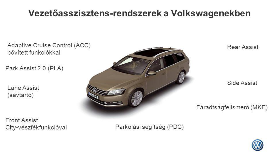 Vezetőasszisztens-rendszerek a Volkswagenekben