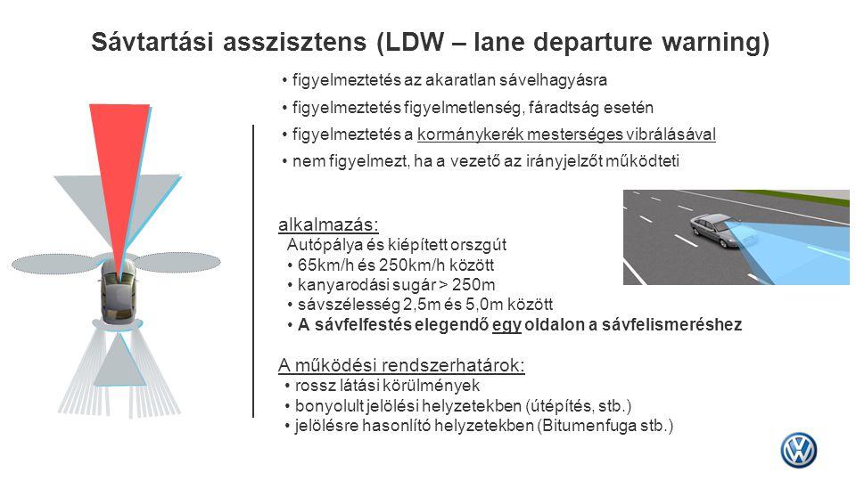 Sávtartási asszisztens (LDW – lane departure warning)
