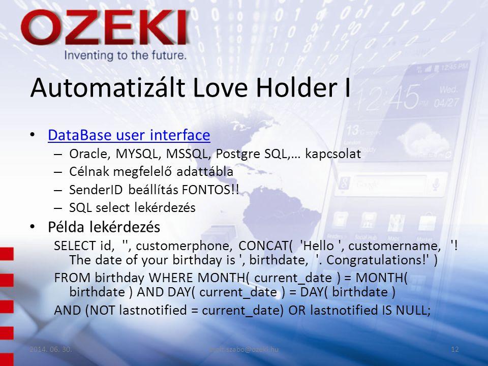 Automatizált Love Holder I