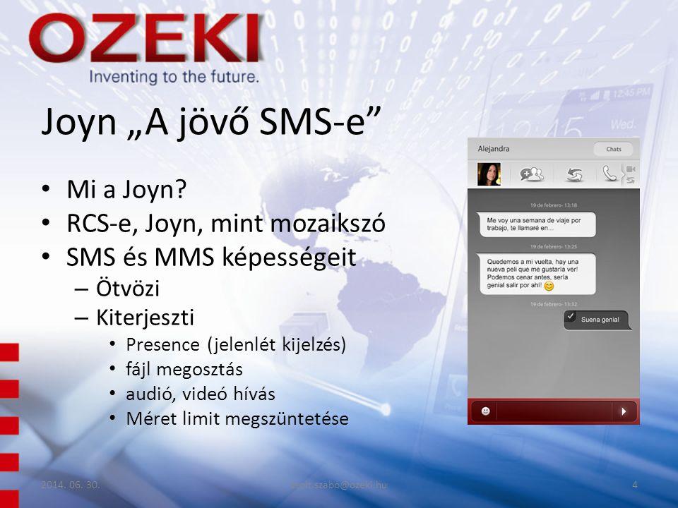 """Joyn """"A jövő SMS-e Mi a Joyn RCS-e, Joyn, mint mozaikszó"""
